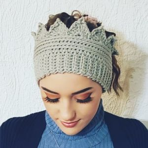 Handmade Crown Earwarmers Earmuffs Headband
